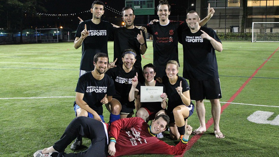 Summer 2014 Sunday Coed Adult Soccer League Champions