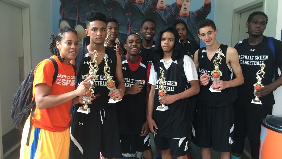 Asphalt Green 16U Boys Basketball Team Wins Tournament