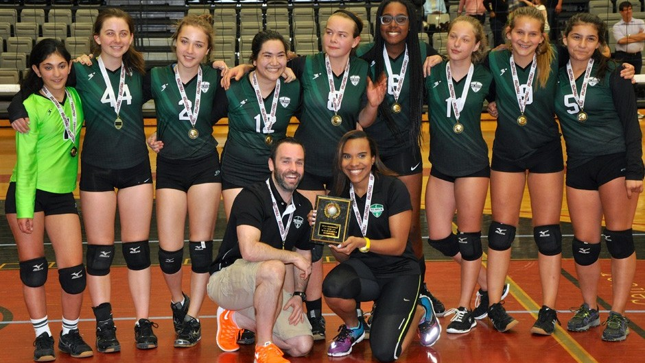 Asphalt Green Wave 15U Girls Volleyball Team Claims Championship