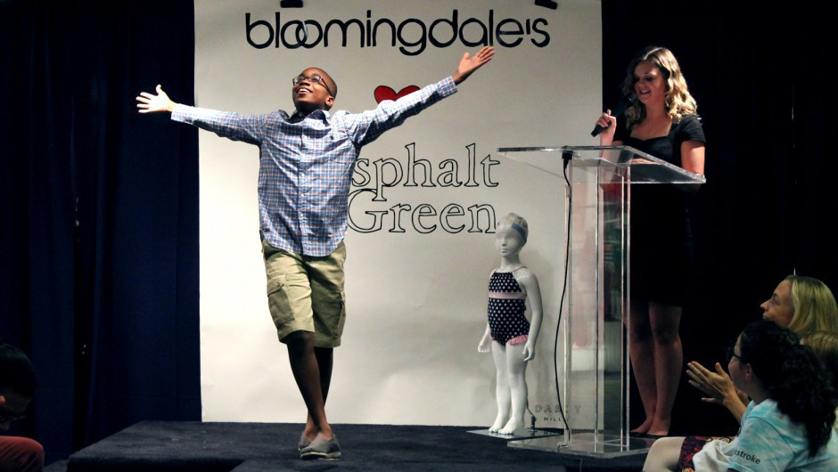 Asphalt Green Swimmers Model at Bloomingdale's Fashion Show