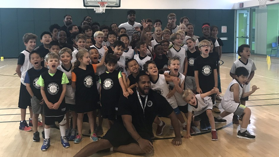 Brooklyn Nets Host Summer Basketball Camp at Asphalt Green