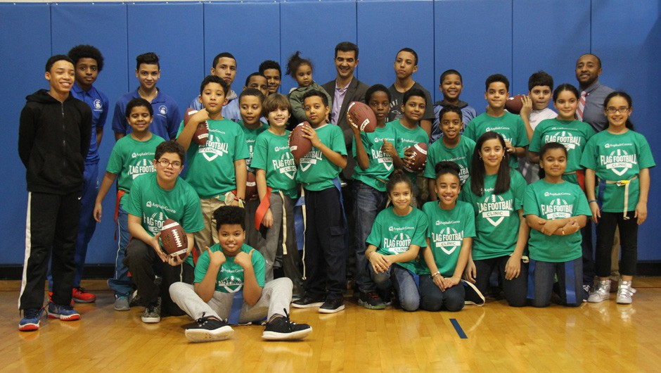 Community Sports League Players Give Back by Leading Clinic at Recess Enhancement Program School